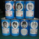 Lot of 7 - RC Cola 1977 Baseball Player Tin Cans - Robin Yount, George Foster