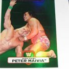 PETER MAIVIA - 2010 Topps WWE Platinum Green Refractor #12 - #344 of 499 made