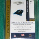 2005 Gridiron Gear Past & Present Jersey Number PATCH DeShaun Foster #001 of 100