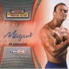 MAGNUS - 2010 Tristar TNA New Era Autograph #35 of 50 made - Nick Aldis GFW