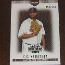 2007 Topps Triple Threads Sepia C.C. Sabathia #052 of 559 **52 Jersey Number**