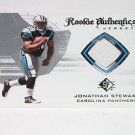 2008 SP Authentic Rookie Authentics Jersey Jonathan Stewart Rookie Card PANTHERS