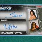 TARA & MADISON RAYNE 2011 TNA Signature IMPACT GOLD Autograph #07 of 25 made