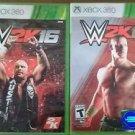 WWE 2K15 and WWE 2K16 Xbox 360