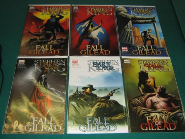 Dark Tower Fall of Gilead (2009) #1-6 - Complete Full Run Set - Marvel Comics