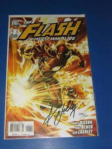 Flash Fastest Man Alive (2006) #1 Ken Lashley Signed DYNAMIC FORCES - 1 of 1000