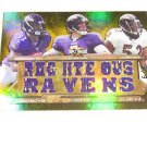 2012 Topps Triple Threads Jersey Combos Gold Joe Flacco, Ray Lewis, Pierce #3/9