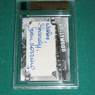JOAN LORRING Famous Fabrics Ink Hooray for Hollywood Cut Signature AUTOGRAPH 1/1