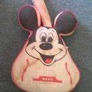 Vintage 1960s Walt Disney Mickey Mouse Plush Guitar Pillow - LS Sutton & Son