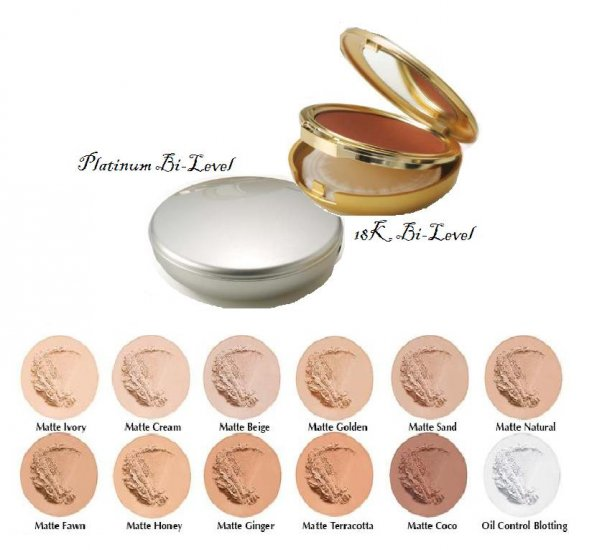 Oil Free Pressed Powder Bi-Level Platinum & 18K