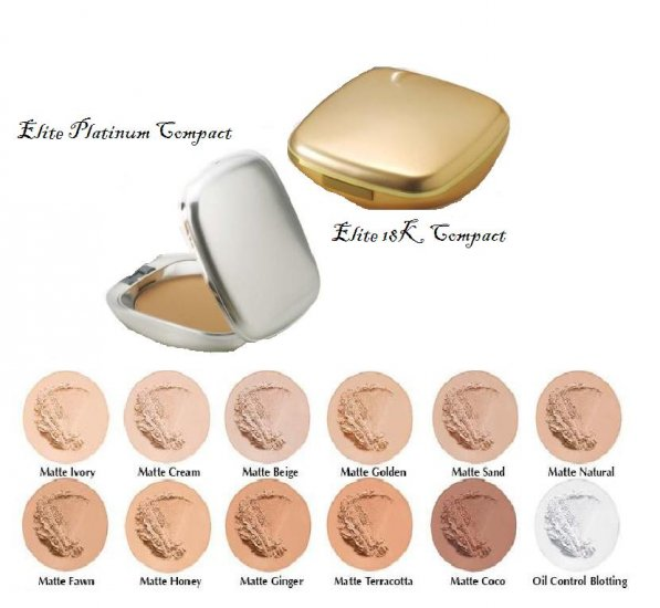 Oil Free Pressed Powder Elite Platinum & 18K Compacts