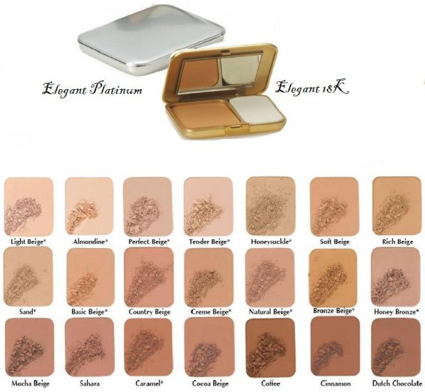 Two Way Foundation Elegant Platinum & 18K Compacts