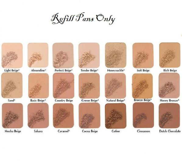 Two-way foundation Refill Pans Only