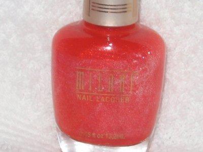 MILANI GLITZY Nail Polish  * GLITZY JAM * Sparkly Med Orange Glimmer
