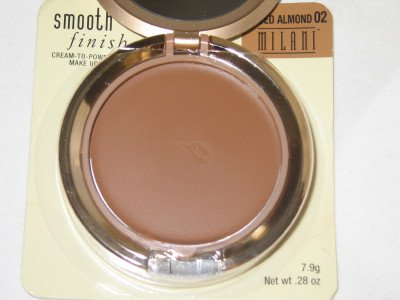 MILANI Smooth FInisH CREAM to POWDER Foundation #02 SPICED ALMOND Compact