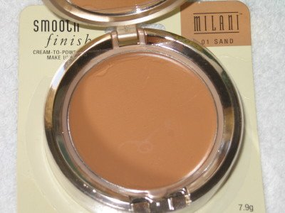MILANI Smooth FInisH CREAM to POWDER Foundation #01 SAND Compact