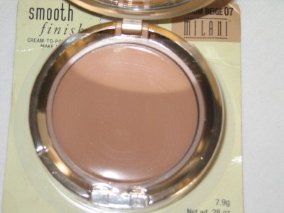 MILANI Smooth FInisH CREAM to POWDER Foundation #07 MEDIUM BEIGE Compact