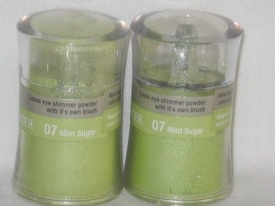 MILANI 2 Loose EyE Shadow Shimmer Pots #07 MINT SUGAR Wet or Dry Shadow