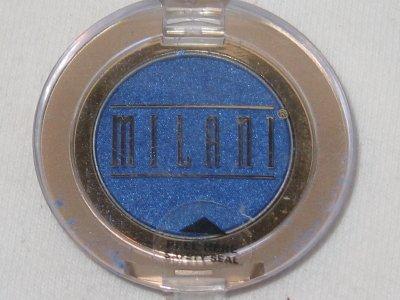 MILANI EyE Shadow Compact #14 BLUE ICE Shimmer Deep Blue Eyeshadow NEW SEALED