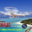 Syma X5C-1 Latest 6 Axis Gyro 2.4GHz 4CH RC Quadcopter with 360 Degree 3D 200W HD Camera