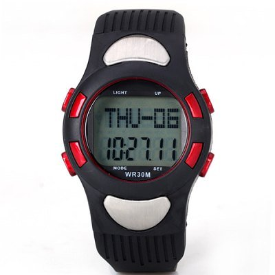 Heart Rate Monitor Pedometer Digital Watch with Calorie Counter & Stopwatch