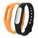 Best Selling Mi Smart Band IP67 Waterproof Pedometer Sleep Monitor Black c/w extra Orange Band