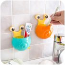 Cute Cartoon Snail Shaped Toothbrush Holder with Suction Hooks