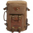 Kaukko 22L Multi-function 100% Canvas Backpack  -  DARK KHAKI
