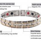 Healing Magnetic Bracelet 316L Stainless Steel Magnetic,FIR,Germanium) Gold Bracelet