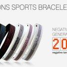 Power Ionics Titanium Sports Wristband Bracelet 2000ions/cc