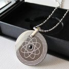 Quantum Scalar Energy Pendant with Germanium & Far Infrared & Tourmaline Stone on back + Ion Card