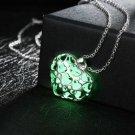 New Heart Shape Lover Pendant Necklace Luminous Glowing Necklace Glow In Dark!