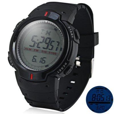LED Military Sports Watch Light Stopwatch - Black