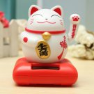 Good Fortune Feng Shui Solar Powered Maneki Neko Welcome Luck Fortune Cat!