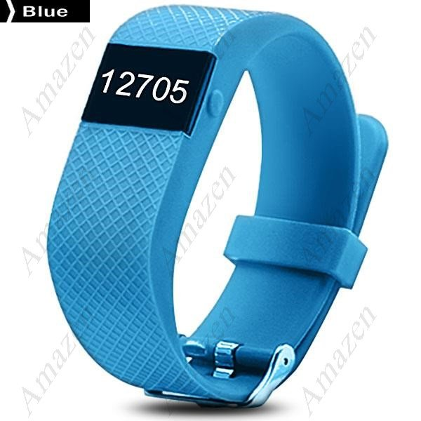 TW68 Smart Fitness Health Tracker Blood Pressure Heart Rate Monitor Sports Bracelet Bluetooth - Blue