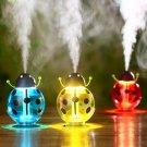 Mini USB LED Beetles Ultrasonic Humidifier Portable Air Diffuser Night Light Aroma Mist Maker