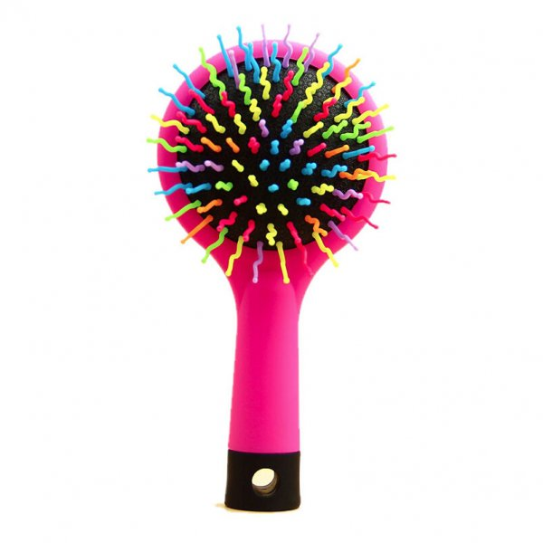 Rainbow Volume Anti-Static Hair Massage Comb Brush with Mirror
