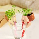 Mini Auto Water Absorption Animal Potted Plants Office Desktop Plant