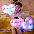 Plush Colorful LED Light Music Heart Shape Throw Pillow
