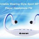 Sport MP3 Player FM Headphone - Blue/Black/Red/Green