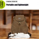 KAUKKO 13L Retro Style Canvas Women Backpack  -  KHAKI