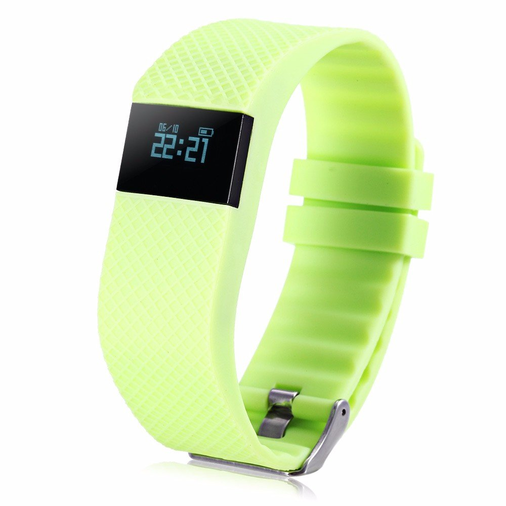 TW68 Smart Fitness Health Tracker Blood Pressure Heart Rate Monitor Sports Bracelet Bth4 GREEN