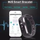 2017 M2S Smart Bracelet Blood Pressure/Oxygen/Heart Rate Monitor/Pedometer Fitness Tracker - Black