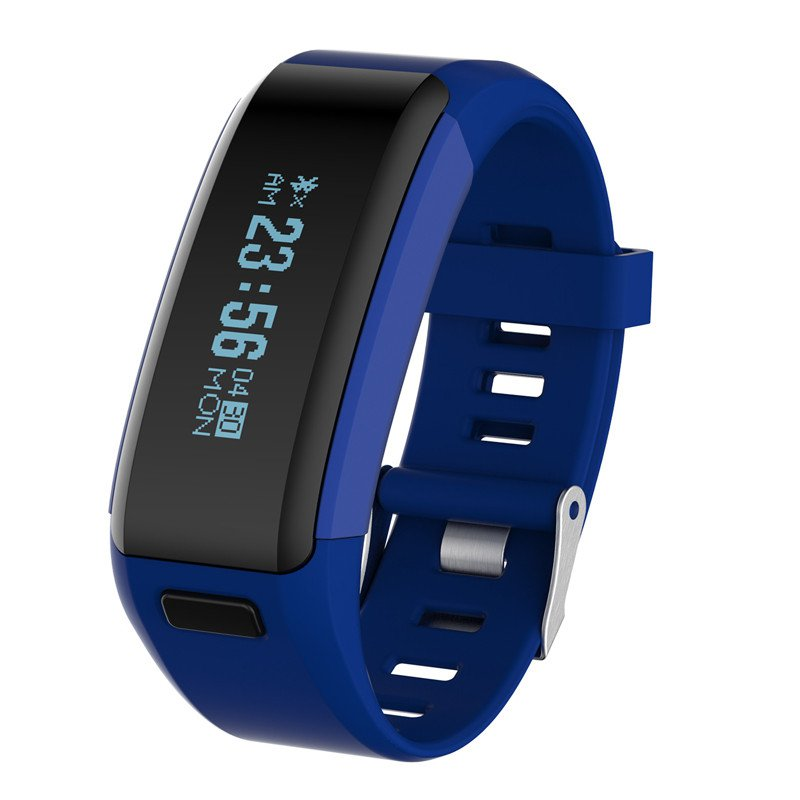 NO.1 F1 Smart Bracelet Heart Rate Monitor Calorie Sleep Pedometer Remote Cam - Blue