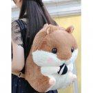 Adorable Soft Plush Hamster Backpack Students Bag - Brown