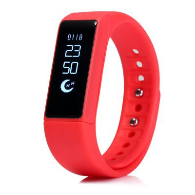 NEW! I5 Plus Fitness Activity Tracker Pedometer Calorie Sleep Sedentary Phone Msg Alert - Red
