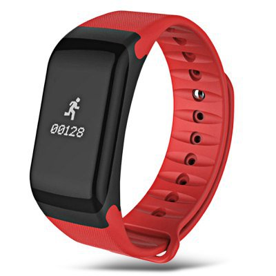 2017 Latest Model! TW1 Smart Wristband Heart Rate Blood Pressure, Blood Oxygen Pedometer Sleep -Red