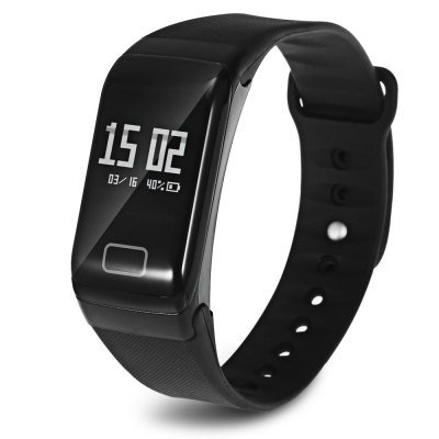 2017 Latest Model! TLW1 Smart Wristband Heart Rate Blood Pressure Blood Oxygen Pedometer Sleep-Black