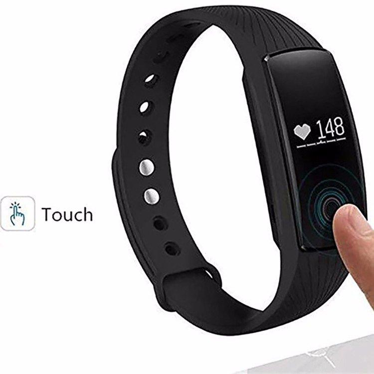 Best Selling ID107 Smart Bracelet Heart Rate Fitness Health Tracker - Black