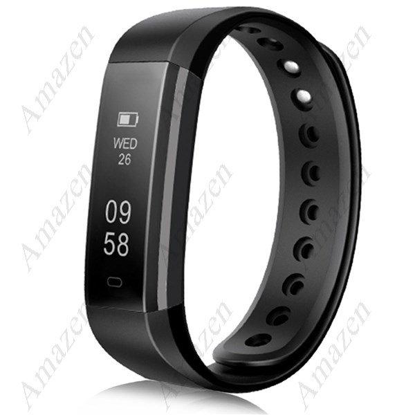 2017 Latest Model! ID115HR Smart Bracelet Heart Rate Fitness Health Tracker - Black